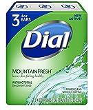 Dial Antibacterial Deodorant Soap, Mountain Fresh, 4 Ounce, 9 Bars