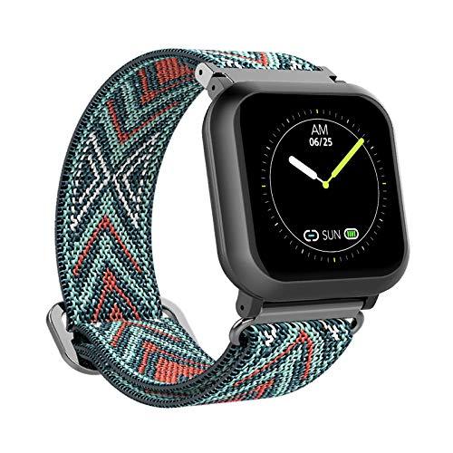 BIGCHINAMALL Relojes Inteligentes Mujer Smartwatch (Roja/Verde Flecha)
