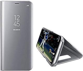Sweau Funda Galaxy S20 Espejo,Clear View Mirror Standing Cover Case Bookstyle Smart Mirror Magnetic Flip Shell Anti-Scratch Protective Case Compatibile con Galaxy S20