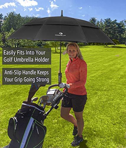 Procella Golf Regenschirm, 157 cm groß, sturmsicher, automatisch zu öffnen, Regen- und Windresistent Golfschirme(Black) - 5