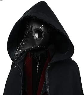 Steampunk Black Plague Doctor Mask Women Men PU Leather Halloween Mask Gothic Cosplay Masks