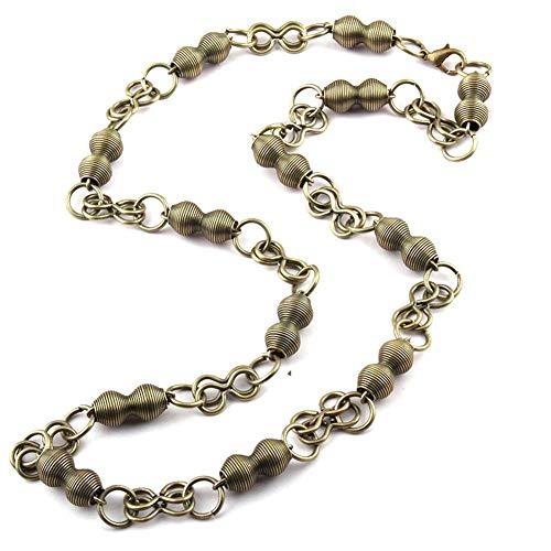 chenyou Collar de metal con colgante de estilo bohemio y tribal, color de 60 cm, tamaño: chapado en bronce envejecido.