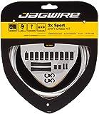 Jagwire 2X Sport Shift - Kit de Fundas y Cables de Cambio para Adultos, Unisex, Plata, Talla única