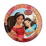 Disney 8 platos de cartón para fiestas de cumpleaños infantiles o temáticas de Elena de Avalor