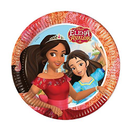 8 Assiettes * par Elena Avalor * de Disney pour anniversaire d'enfant ou Thème de fête/soirée/Party Assiette Assiettes plates Thème princesse