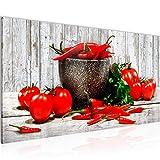 Bilder Küche - Gemüse Wandbild Vlies - Leinwand Bild XXL