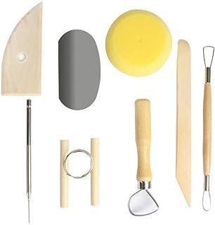 AIBER 8 Pcs Ceramic Clay Tools Set, Clay Wax Pottery Tool Kit Ceramics Wax Carving..