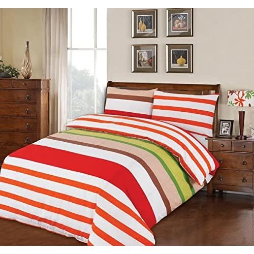 T152 Duvet Cover Set Easy Care Polycotton Plain Dyed Bedding Uk Bed Size