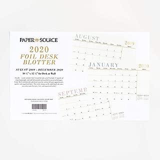 Paper Source 2019-2020 Foil Desk Blotter, 17 Month, 19 1/4