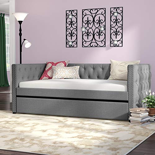 Dangelo Upholstered Twin Daybed with Trundle