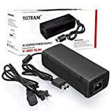 Power Supply for Xbox 360 Slim , AC Adapter Power Supply Cord for Xbox 360 Slim Auto Voltage (Black)