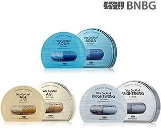 New BANOBAGI Vita Cocktail Brightening, Age, Aqua Foil Mask Sheet 30ml 30pcs Set for Anti-againg, Whitening (Made in Korea)
