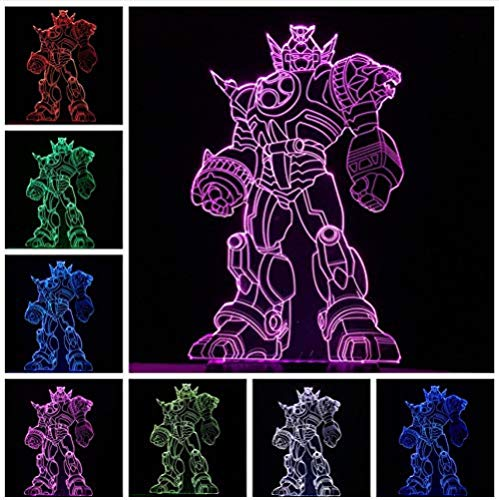 Last Knight Cool Transformers 3D LED USB Blubing Lámpara de Escritorio 7 Colores Luz de Noche Niño Hombre Coche Decoración del Hogar Niños Juguete Regalo de Navidad