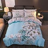 yaonuli Baumwolle vierteilig Baumwolle aktiv vierteilig Blume 1,5 m - 1,8 m breites Bett