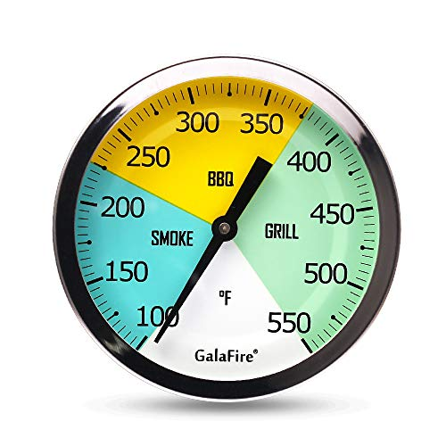 GALAFIRE 3 3/16 Inch Grill Thermometer for Smoker Wood Charcoal Pit, Large...