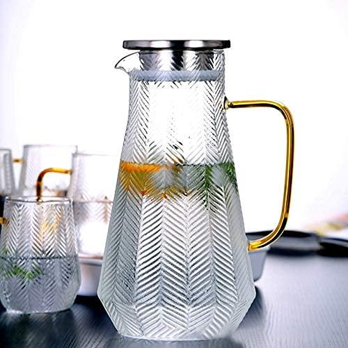 Kamenda Hervidor de agua de cristal, tetera martillada, hervidor de agua resistente,...