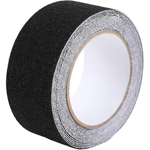 factus 滑り止めテープ 鉱物粒子 貼るだけ簡単 転倒防止 屋外 階段 耐水性 50mm×5m 全8色 (1.黒色)