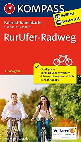 Fahrrad-Tourenkarte RurUfer-Radweg: Fahrrad-Tourenkarte. GPS-genau. 1:50000. (KOMPASS-Fahrrad-Tourenkarten, Band 7056)