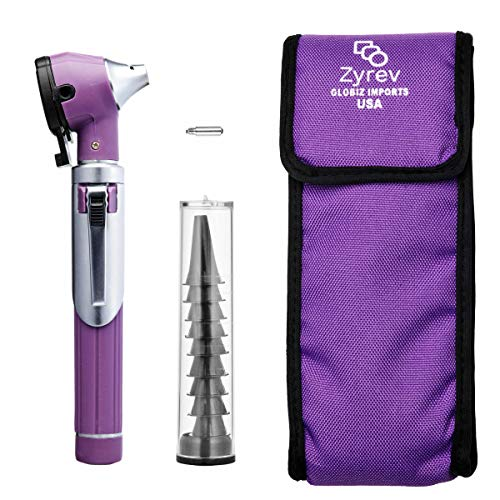 ZetaLife Otoscope - Ear Scope with Light, Ear Infection Detector, Pocket Size, in 10+ Colors! (Purple Color)