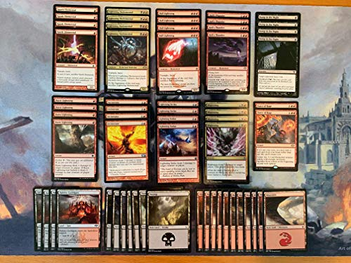 Elite Ball Blightning Deck - Black Red - Lightning Skelemental - Modern Legal - Custom Built - Magic The Gathering - MTG - 60 Card