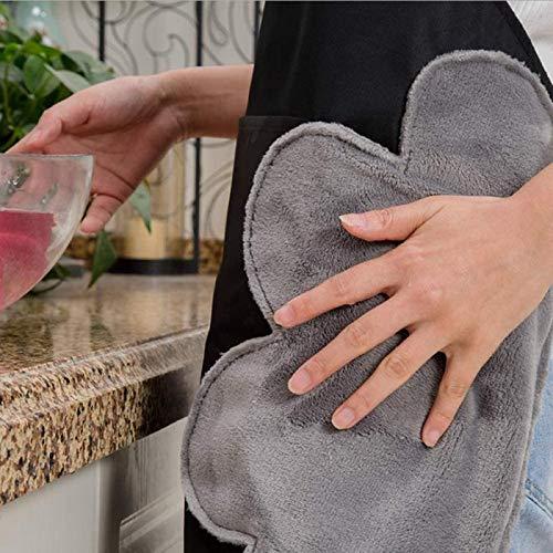 エプロン 女性用 エプロン レディース シンプルエプロン カフェエプロン 撥水 防水 汚れにくい お手ふき ポケット付き 作業用 家庭用 かわいい おしゃれ (ブラウン)