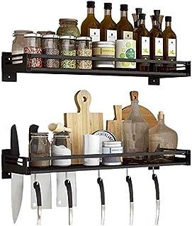 DJSMsnj Rangement de cuisine en acier inoxydable 304 à suspendre au mur - Étagères de cuisine - Étagères de rangement pour...