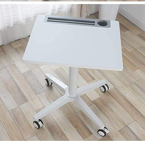 FGDSA Side Table Laptop Table Sofa Table Side Tables Overbed Table With Wheels Heavy-Duty Movable Couch Sofa End Table, Adjustable Height, Bed Table, Tray Table For Eating And Laptops W