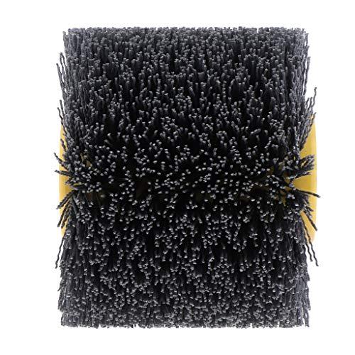 B Blesiya Nylon-Expansionswalze Walzenbürste Satinierbürste(Bohrung 20 mm), zur Bearbeitung von Holz/Metall - 240 Körnung