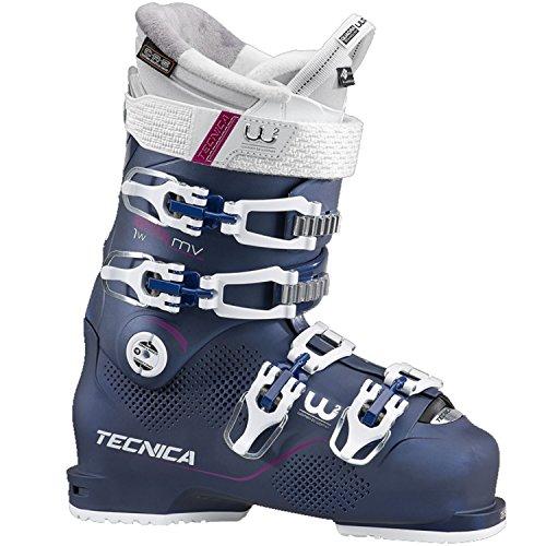 Moon Boot Tecnica Mach1 95 MV – Bottes de Ski pour Femme, Bleu Nuit, 26.5