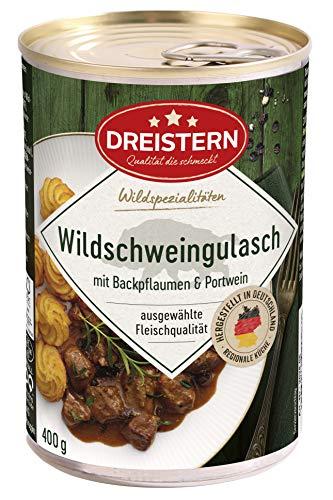 DREISTERN Wildschwein Edelgulasch, 400 gramm