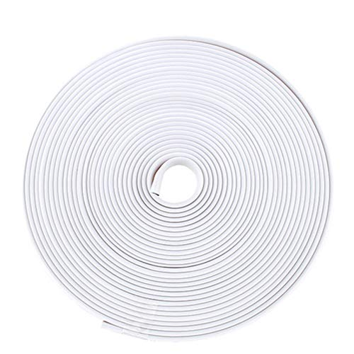 N\A Pegatina protectora para rueda de coche, 8 m, adhesivo decorativo para llantas, protección de neumáticos, cubierta para el cuidado de la caída de la forma del coche (color: rollo blanco)