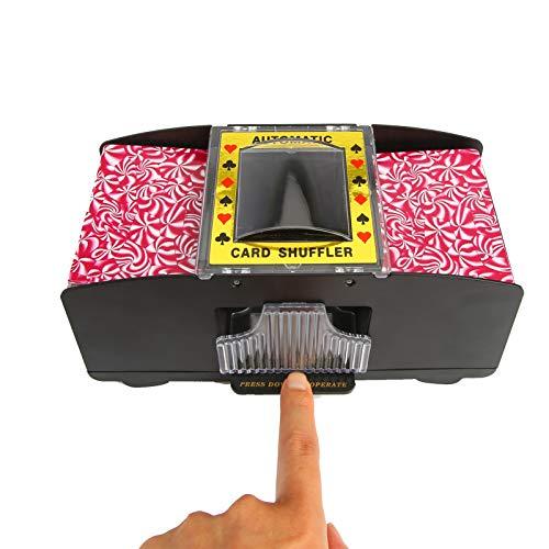 Kartenmischmaschine, 2 Decks Batteriebetrieben Automatischer Kartenmischer Kartenmischmaschine Elektrische Spielkarten Mischmaschine Kartenmischgerät für Bridge-Pokerspiele, Pokertisch, Poker
