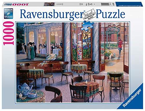 Ravensburger-El Café Rompecabeza Piezas, Multicolor (Puzzle 1000 Pz - Fantasy)