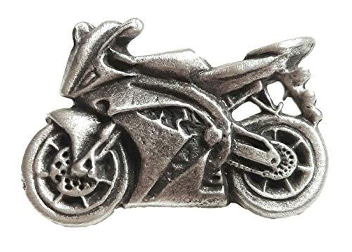 Motorrad/SUPERBIKE handgefertigt aus Englisch Zinn Anstecknadel + Geschenk Tüte