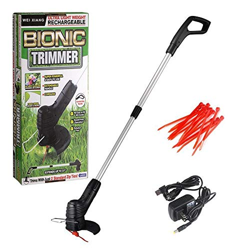 SHOW Bionic Trimmer Handheld, Cordless Rechargeable Garden Grass and Weed String Cutter with Detachable Head for Portable use,Replaceable Plastic & Metal Blade, Adjustable Length