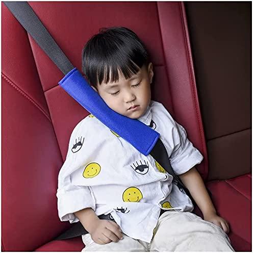 WXking 4 pz Car Cover Automobile Cuscino Cuscino Sedile Cinturino Cinturino Strap Safety Car Accessori per Interni Accessori per la Cintura Sedile per Adulti Bambini (Nome del Colore: 2 Paia Blu)