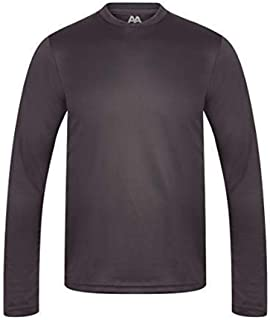 AA Sportswear | Mens Long Sleeve Active Breathable Quick Dry T Shirt Base Layer Running Sports Gym Workout Training in Out...