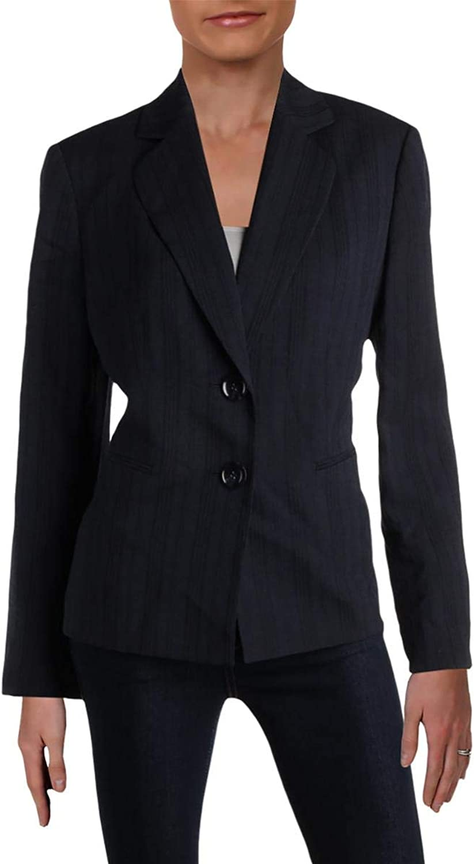 LeSuit Womens Tonal Stripe Office TwoButton Blazer
