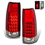 SPPC Red/Clear LED Tail Lights Assembly Set for Chevrolet Full Size - (Pair) Includes Driver Left and Passenger Right Side Replacement