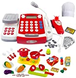FUNERICA Toy Cash Register with Scanner - Microphone - Calculator - Play Pots and Pans - Cutting...