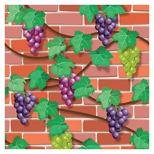 Papel De Pared Sala 3d fondo de pantalla de uva rollo fruta de la cocina de la decoración mural de Fondos de auto-adhesivo de PVC embroma la pared de ladrillo de papel mural Papel De Pared Decorativo