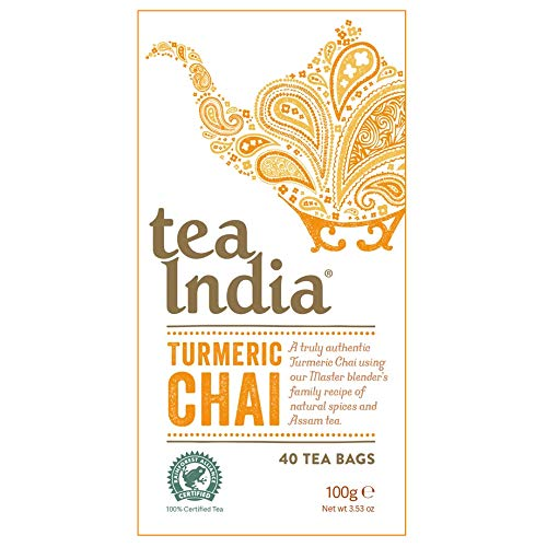 Tea India Turmeric Chai Teabags - 40 Count