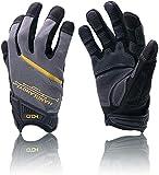 LEVEL 5 Cut Resistant Mechanics Gloves,Touch Screen Fingertips Glove,Breathable Durable Men Safety Work Gloves (Medium)