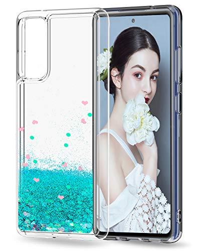 LeYi für Samsung Galaxy S20 FE 4G/5G Hülle Glitzer Handyhülle,Cover TPU Bumper Silikon Clear Schutzhülle für Hülle Samsung Galaxy S20 FE (Fan Edition) 4G/5G Handy Hüllen Türkis