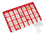 Pflegehome24® Arzneikassette Pillenbox Pillendose, Rot 7-Tage, 1 Woche -