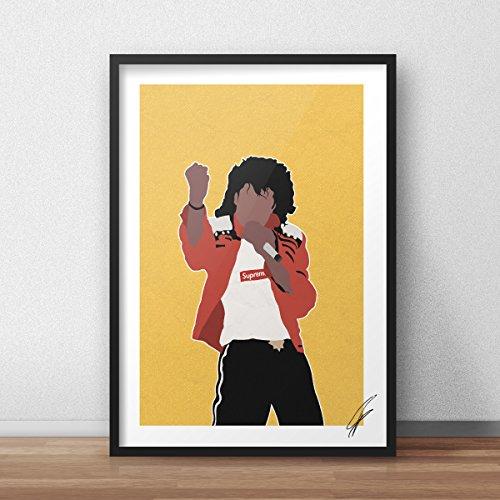 Von Michael Jackson Supreme inspirierte Illustration.