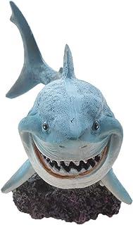 Resin Shark Fish Tank Decor Aquarium Ornament Home Decoration