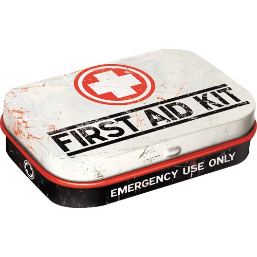 Nostalgic-Art 81256 Nostalgic Pharmacy - First Aid Kit | Pillen-Dose | Bonbon-Box | Metall | mit Pfefferminz-Dragees