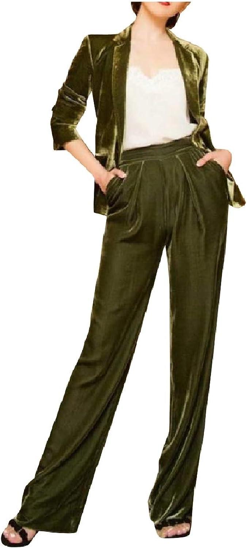 Zimase Women's Party 1 Button Slim Fit Blazer Stylish 2Piece Suits Set