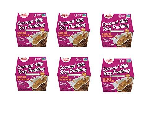 Sun Tropics Coconut Rice Pudding Snack, Sea Salt Caramel, 12 Count 4.23 oz Cups, Gluten Free, Dairy Free, Vegan, Low Sugar, Non-GMO, Ready-to-Eat